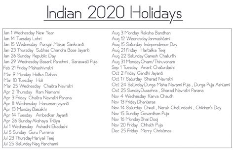 printable calendar templates indian holiday calendar