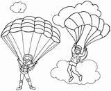Parachute Coloring Template Coloringpagesfortoddlers Printable Sketch Disimpan Dari sketch template