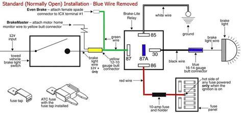 Brake Light Relay Prevent Motorhome Turn Signals Being