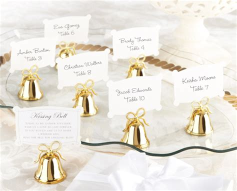 metal place card holder with gold 50th anniversary gold quot bell quot place card or photo holder 24 pcs