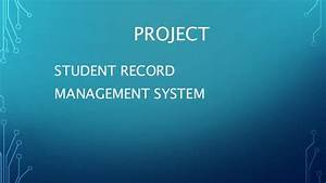 Project on Student information management system