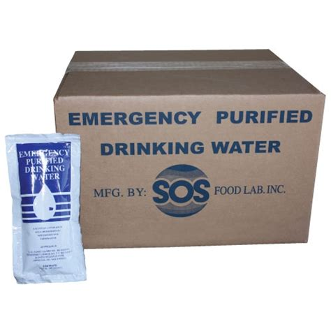 pack  foil pouch emergency drinking water