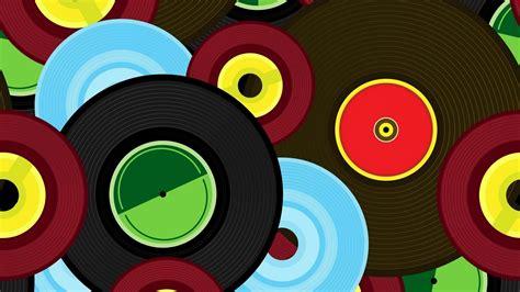 wallpaper  vinyl records colorful