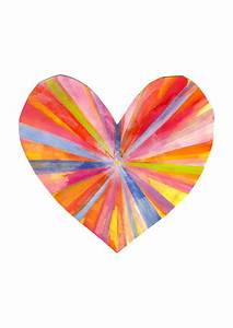 Rainbow Heart Print by Madeleine Stamer The Block Shop