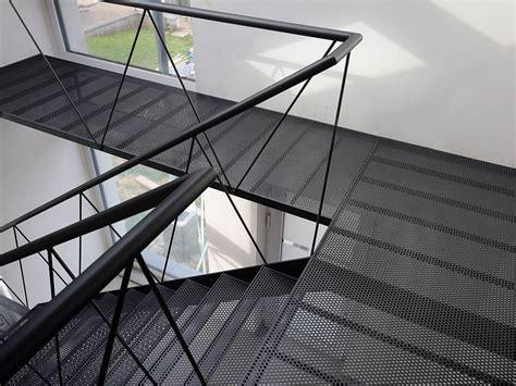 perforated metal  floor  stair tread