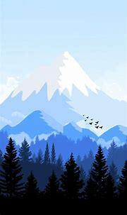 Alpes-Mountain-Animated-Forest-iPhone-Wallpaper | Nature ...