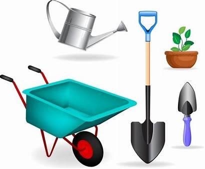Tools Garden Clipart Vector Gardening Wheelbarrow Ai