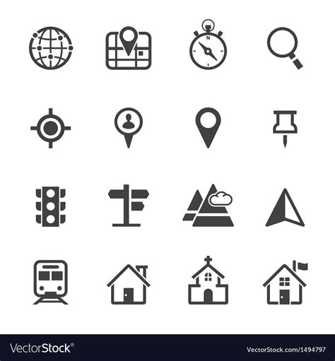 Choose from 3400+ map icon graphic resources and download in the form of png, eps, ai or psd. Map Icons and Location Icons Royalty Free Vector Image