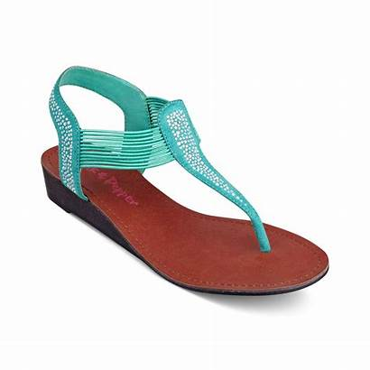 Sandals Flat Thong Pink Pepper Coral Memory