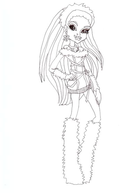 Abbey Bominable Coloring Pages - Eskayalitim