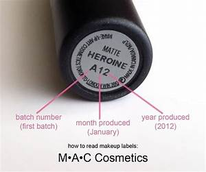 how to read the batch code number on mac cosmetics With cosmetic batch code