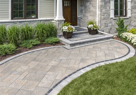 Unilock Paver Installation by Welcome Home Ideas And Photos For A Custom Entryway To