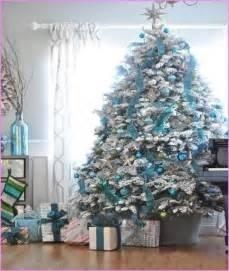 blue and silver christmas tree decorating ideas designcorner