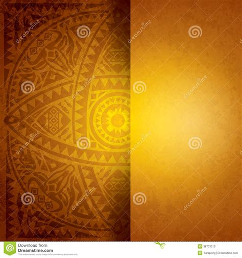 yellow african background design stock vector image