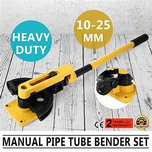 New Manual Pipe Tube Bender 7 Die Tool 3  8 U0026quot  - 7  8 U0026quot