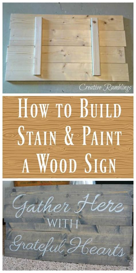 build  paint  wood sign creative ramblings