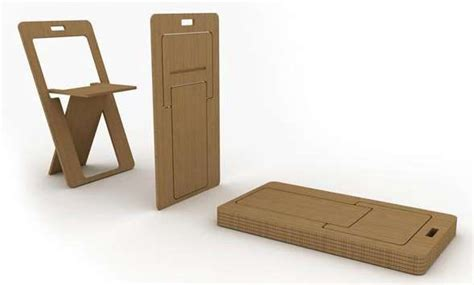 fold flat plywood chair clever to