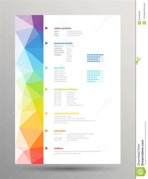 Free Resume Background Images by Resume Curriculum Vitae Stock Vector Image 55445628