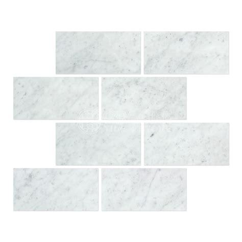 carrara marble italian white bianco 3x6 marble