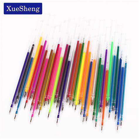 36 Pcslot New 36 Colors A Set Flash Gel Pen Highlight Refill Color Full Shinning Refill