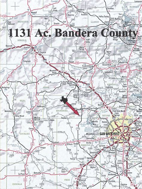 1131 Acre Ranch Bandera Location Map Map
