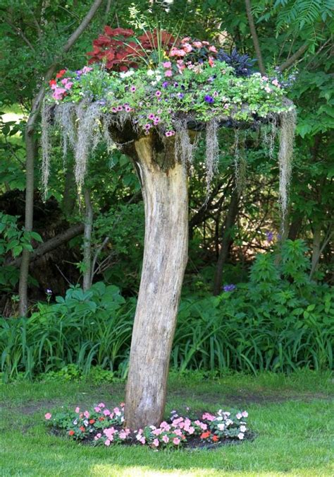 3 ideas for dressing up tall tree stumps outdoortheme com