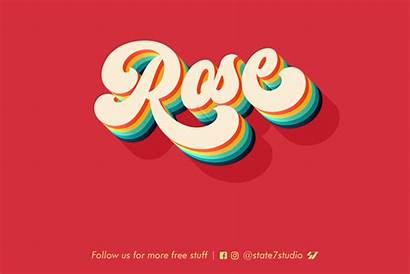 Rose Text Effect Psd Simple Behance Downloads