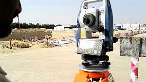 Orientation With Coordinates Or Orientation With Occ Station At Sokkia Total Station Cx 105 In