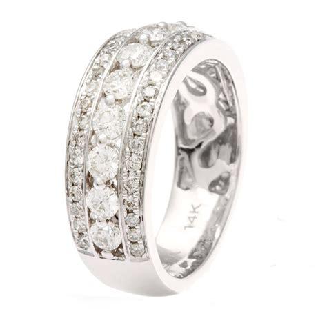 14k white gold round cut diamond anniversary band h i i1