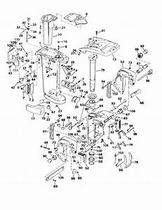Johnson Midsection Parts For 2000 25hp J25elsss Outboard Motor