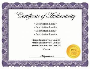 37 certificate of authenticity templates art car With free printable certificate of authenticity templates