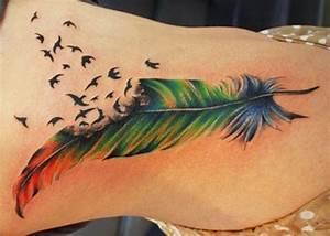 Pusteblume Schwarz Weiß Vögel : feder tattoos und die bedeutung ~ Orissabook.com Haus und Dekorationen