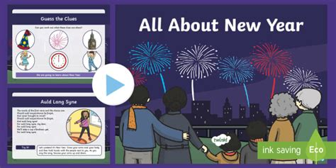 * New * Ks1 All About New Year Activity Powerpoint  31st December, 1st