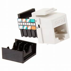 Leviton Quickport Gigamax Cat 5e T568a  B Wiring Connector