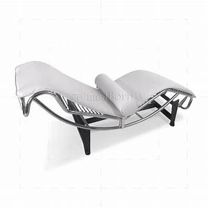 Le Corbusier Stil : le corbusier style lc4 chaise longue white leather replica ~ Michelbontemps.com Haus und Dekorationen