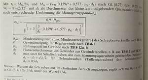 Vorspannkraft Schraube Berechnen : beanspruchung der schraube und des gewindes ~ Themetempest.com Abrechnung