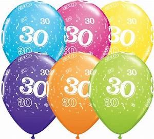 30 Dinge Zum 30 Geburtstag : helium luftballon zahl 30 zum 30 geburtstag 28 cm lufties ballons ~ Markanthonyermac.com Haus und Dekorationen