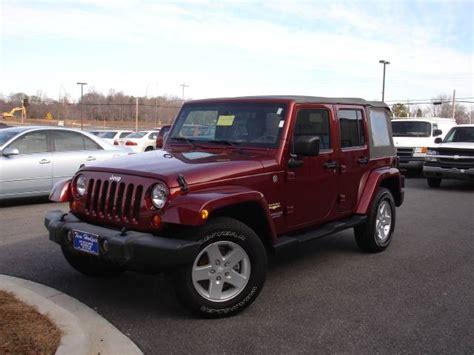 jeep maroon 2007 jeep wrangler sahara unlimited maroon 52092 miles