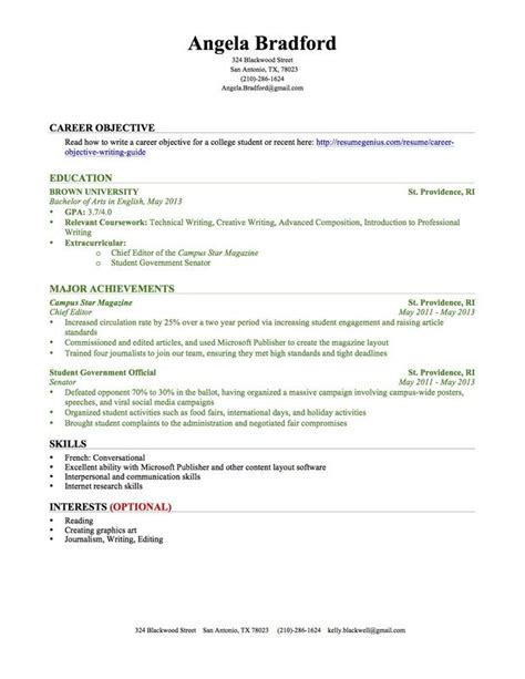 Writing Your Resume No Experience by Sle College Resume With No Work Experience When You