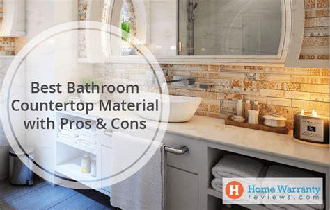 bathroom countertop material  pros cons