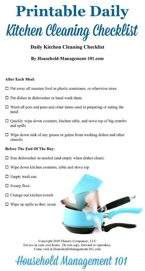 kitchen cleaning checklists kittybabylovecom