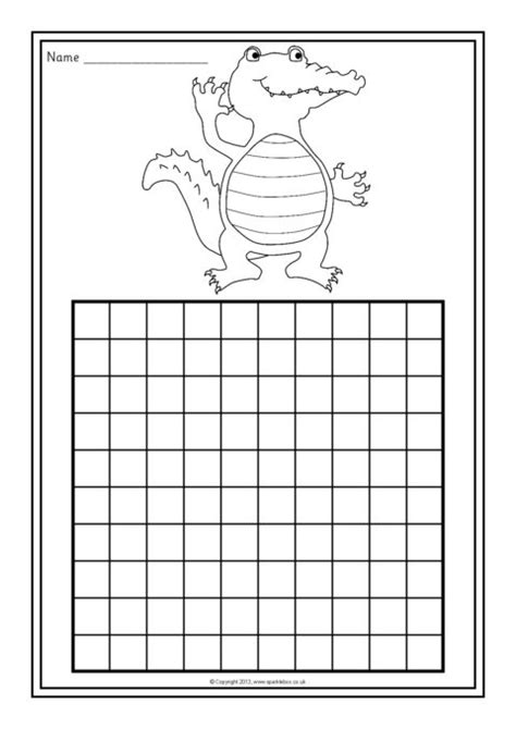 foto de Blank Hundred Grids For Colouring (SB10082) SparkleBox
