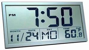 Large digital atomic wall clock decor ideasdecor ideas for Digital atomic wall clock