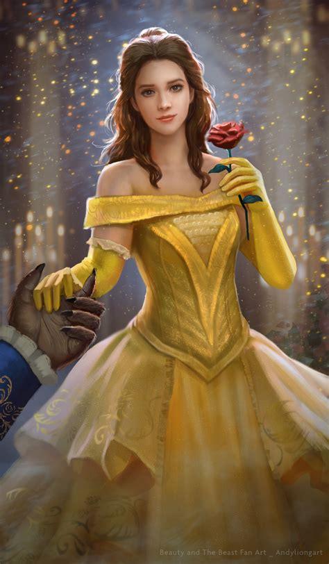 ArtStation - Belle Fan art_Beauty and the Beast 2017, Andy ...
