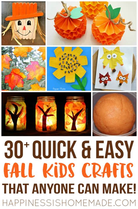 easy fall crafts that anyone can make happiness is 543 | Quick and Easy Fall Autumn Kids Craft Ideas That Anyone Can Make 2