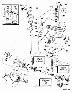 Evinrude 1996 15 - Se15rpg  Gearcase