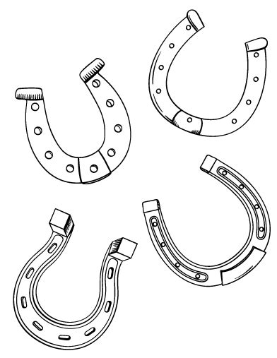 horseshoe template horseshoe coloring pages