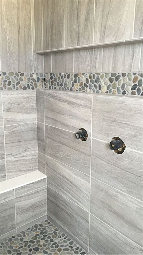 bathroom shower and tub ideas field tile daltile linden point in grigio accent level