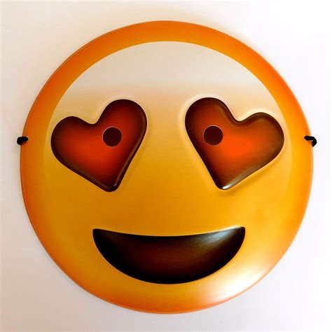 heart eyes smiley emoji mask uk emoticon party novelty
