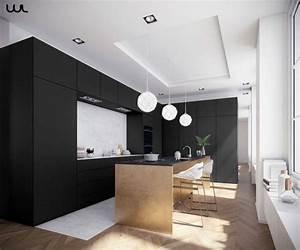 Cuisine Noir Et Blanc : 1001 exemples sublimes de la cuisine noire et bois ~ Melissatoandfro.com Idées de Décoration